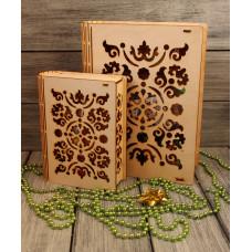 Деревянная шкатулка (идея для подарка) 20*13*6см